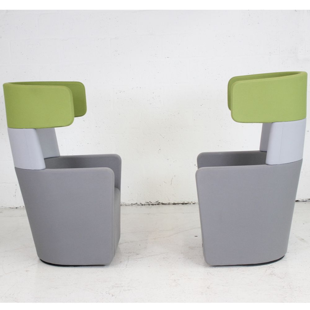 flex one folding chair queen anne covers ireland bene parcs wing - set of 2   privacy booth small office pod